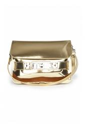 Золотая кожаная сумка на ремешке Proenza Schouler