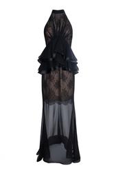 Шелковое платье без рукавов с полупрозрачной юбкой Jason Wu