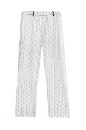 Прямые шелковые брюки с принтом Isabel Marant