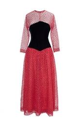 Шелковое платье с бархатной вставкой (70-е гг.) Givenchy Vintage