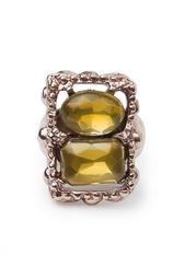 Кольцо из металла и стекла (80-е гг.) - нет в наличии Oscar de la Renta Vintage