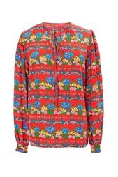 Костюм из блузы и юбки с цветочным принтом (70-е гг.) Yves Saint Laurent Vintage