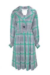 Шелковое платье в клетку (70-е гг.) Givenchy Vintage