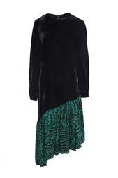 Бархатное платье с шелковой юбкой (80-е гг.) Balmain