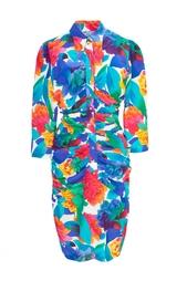 Винтажное платье с цветочным принтом (80-е гг.) Thierry Mugler Vintage