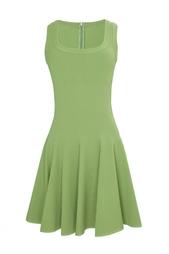Зеленое платье-мини с пышной юбкой Azzedine Alaïa