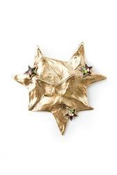 Брошь в виде золотых звезд с вставками из камней (80-е гг.) Yves Saint Laurent Vintage