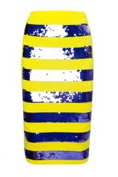 Трикотажная юбка с полосами из пайеток Marc Jacobs