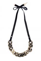 Черное колье из латуни Nina Ricci