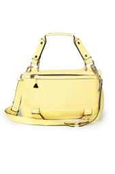 Желтая объемная сумка на длинном ремешке Golden Lane