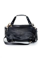 Черная объемная сумка из кожи Golden Lane