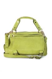 Зеленая объемная сумка на длинном ремешке Golden Lane