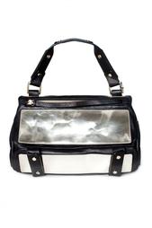 Зеркальная сумка с черной отделкой Golden Lane
