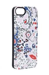 Чехол для iPhone 5 Doodle Love Navy Diane von Furstenberg