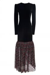 Винтажное платье с кружевным подолом (80-е гг.) Givenchy Vintage
