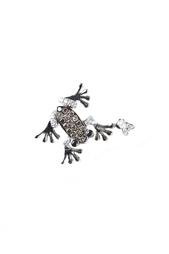 Кулон в виде лягушки из белого золота с бриллиантами Yanush Gioielli