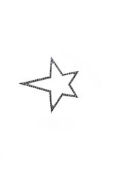 Кулон из белого золота и бриллиантов в виде звезды Yanush Gioielli