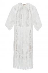 Платье-рубашка с кружевной отделкой и бахромой Stella Mc Cartney