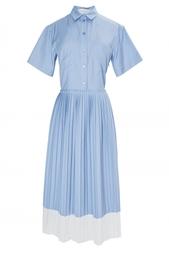 Синее платье с плиссированной юбкой Stella Mc Cartney