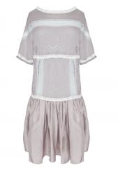 Платье из кашемира и шелка Nina Ricci