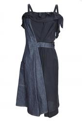 Асимметричное платье на бретелях с поясом Nina Ricci