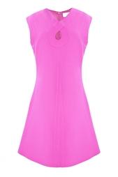 Шерстяное платье с декоративным вырезом на груди Romeo Goat
