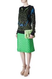 Ярко-зеленая юбка с цветочным принтом Rodeo Goat