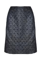 Черная шерстяная юбка с цветочным принтом Rodeo Goat