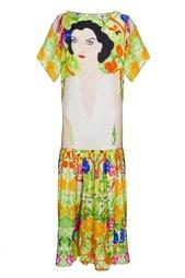 Яркое разноцветное платье с портретом девушки Tata Naka