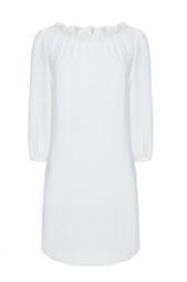 Кремовое платье с драпировкой на воротнике Prudy Goat