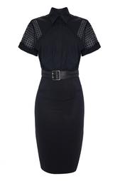 Платье из хлопка и полиамида Victoria Beckham
