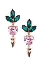 Серьги из латуни и кристаллов Mawi