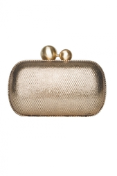 Кожаный клатч Sphere Metallic Tweed Diane von Furstenberg
