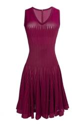Платье из вискозы и шелка Azzedine Alaïa