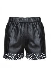 Кожаные шорты Diane von Furstenberg
