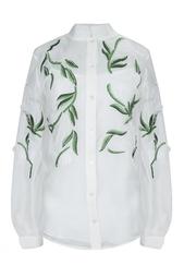 Шелковая блуза Oscar de la Renta