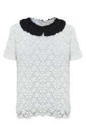 Блуза из шелка Oscar de la Renta