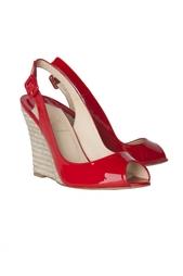 Кожаные туфли Puglia Sling 100 Patent/Rope Christian Louboutin
