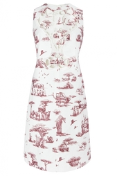 Платье из льна и хлопка Carven