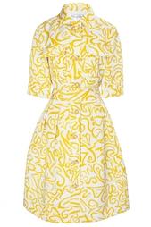 Шелковое-платье Oscar de la Renta