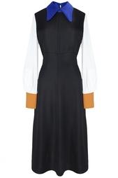 Платье из вискозы и шелка Roksanda