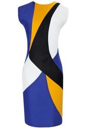 Платье из вискозы, хлопка и шелка Roksanda
