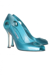 Кожаные туфли Orlo Manolo Blahnik