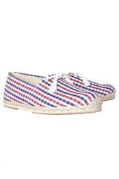Хлопковые туфли Papiounet Flat Vichy Christian Louboutin