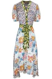 Платье из вискозы и шелка Duro Olowu