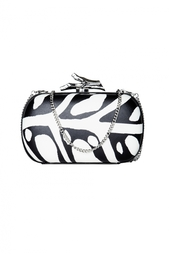 Кожаная сумка Lytton Printed Leather Diane von Furstenberg