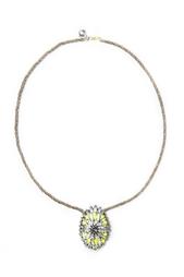 Колье из кристаллов, шелка и металла Iconic Shourouk