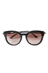 Солнцезащитные очки в черной оправе Magnety Thierry Lasry