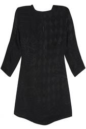 Платье из вискозы и шелка Balmain
