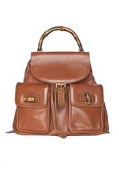 Кожаный рюкзак Bamboo (70-е гг.) - нет в наличии Gucci Vintage